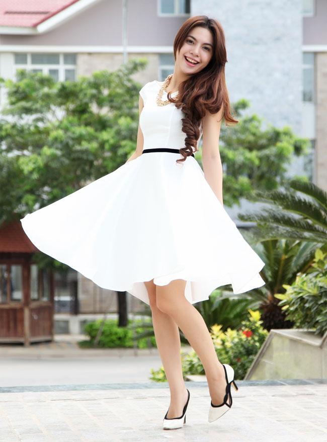 Image result for Váy cho người gầy và cao mùa hè
