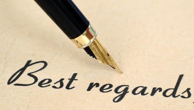 Best regards nghĩa là gì