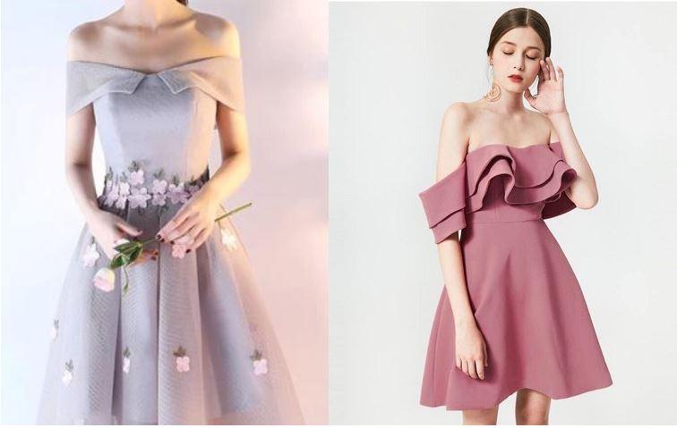 Váy dự tiệc cưới cho dáng người tam giác ngược