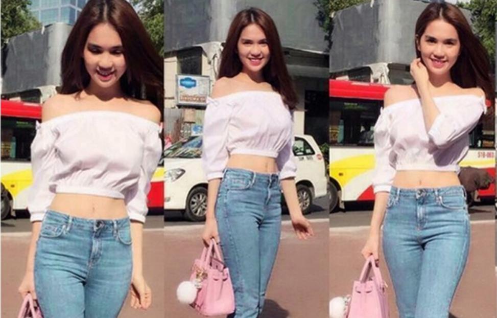 Ngọc Trinh chuộng style croptop và quần
