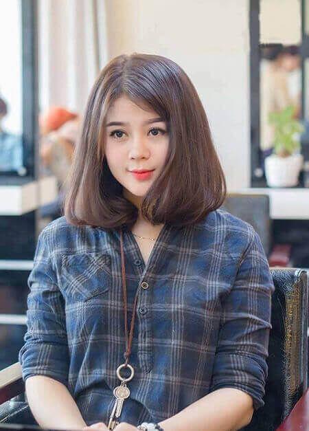 Kiểu tóc ngắn ngang vai, khiến bạn nữ tính dịu dàng vô cùng