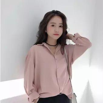 Sơ mi nữ oversize mang phong cách Hàn Quốc