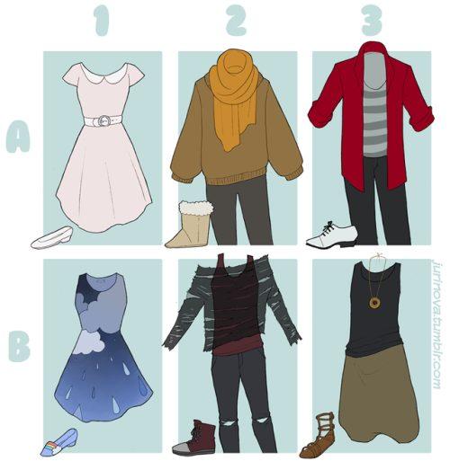 Lựa chọn outfit phù hợp